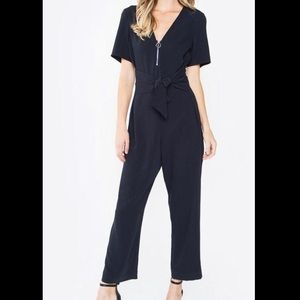 NWT Sugar lips NAVY ZIP JUMPSUIT size XS